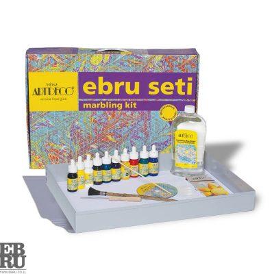 ערכת 10 צבעים Ebru marbling אמנות היצירה על פני המים ebru.co.il