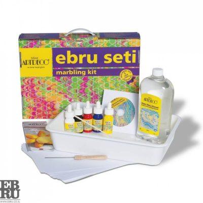 ערכת 5 צבעים Ebru marbling אמנות היצירה על פני המים ebru.co.il