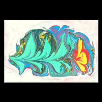 תמונה על קנבס פרח צבעוני באמנות אברו