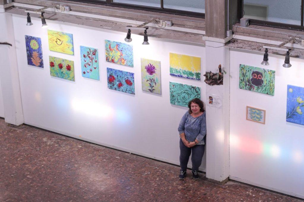 תערוכת אמנות אברו בעיריית עכו של האמנית ראיסה דזיובוב